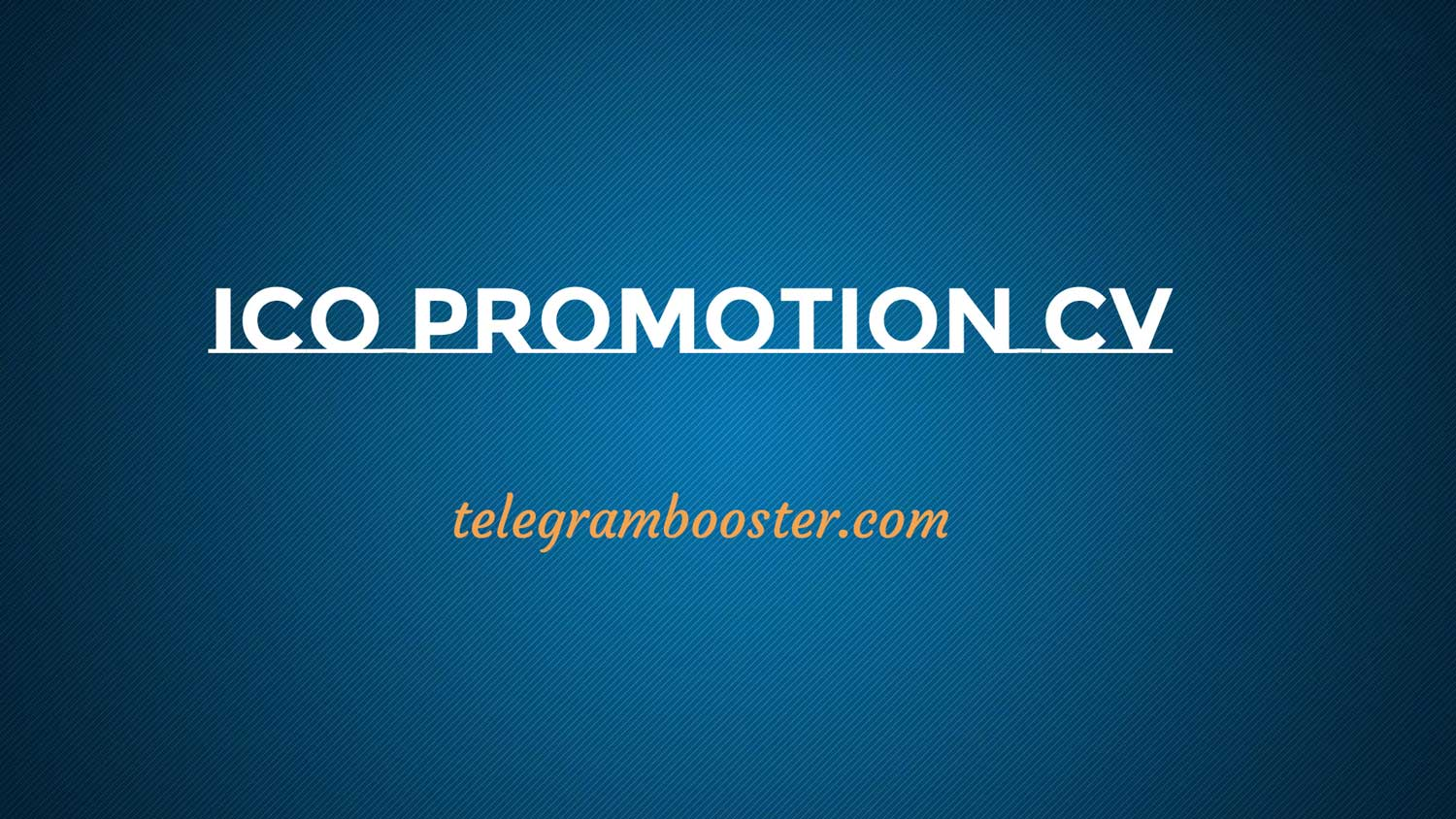 Our ico promotion CV - Buy Real Telegram Members for Crypto group ...