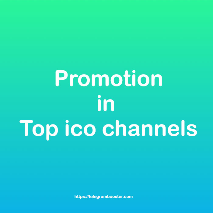 Ico promotion on Top ico telegram channels